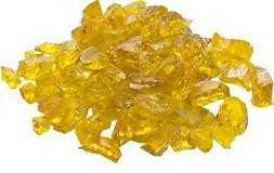 Dagan 1/2-Inch to 3/4-Inch Fire Glass, 10-Pounds, Yellow