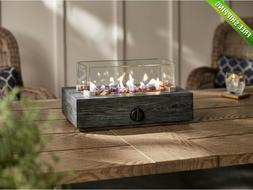 10.6 in. Outdoor Propane Gas Tabletop Firepit Fire Pit Wood
