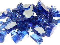 """10 LBS 1/2"""" SAPPHIRE REFLECTIVE ,Fireplace,Fire Pit Glass Ro"""