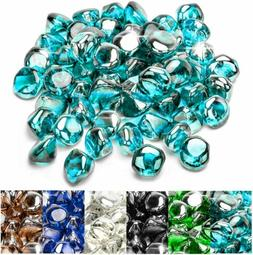 10lb  Fire Glass Diamonds for Natural or Propane Fire Pit Am