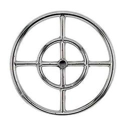 "12"" 18"" 24"" 30"" 36"" Stainless Steel Fire Pit Burner Ring Gas"