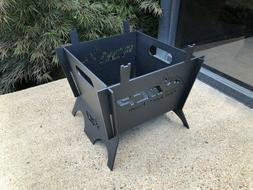 """Outdoor Custom Products 13"""" Square Portable Camping Fire Pit"""