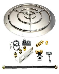 """18"""", 22"""", 30"""", 36"""" Stainless Steel Pan Ring Fire Pit Burner"""