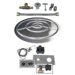 Dreffco 18 - 36 Inch Stainless Fire Pit Burner Pan Spark Kit