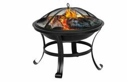 """22"""" Curved Feet Iron Brazier Wood Burning Fire Pit Decor for"""