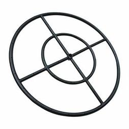 "Stanbroil 24"" Round Fire Pit Burner Ring, Double Ring, Black"