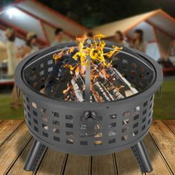 Large Outdoor Fire Pit Wood Burning Heater Backyard Patio St