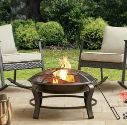 """32"""" Fire Pit Cover Poker Bonfire Grill Outdoor Party Patio G"""