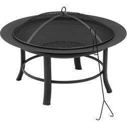 Cover Fire Pit Pvc 28 And Spark Guard Mainstays Outdoor Pati