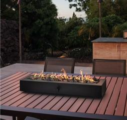 """28"""" Outdoor Tabletop Gas Fire Pit Patio Table Top Propane Fi"""