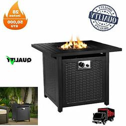 """28"""" Propane Gas Fire Pit Table 50000 BTU Outdoor Courtyard H"""
