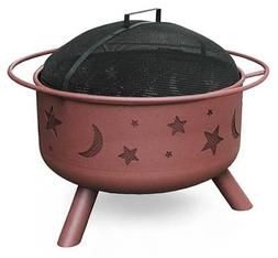 Landmann 28335 Big Sky Stars & Moons Fire Pit, Georgia Clay,
