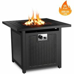 """30"""" Gas Fire Table 50,000 BTU Square Propane Fire Pit Table"""