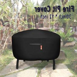 30 in Waterproof Fire Pit Cover BBQ Grill Garden Cover Round