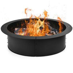 36 Inch Round Steel Fire Pit Ring Liner DIY Wood Burning Ins