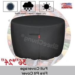 """36"""" Round Gas Fire Pit/Table Cover 210D Coating Patio Outdoo"""