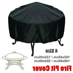 4 Size Waterproof Outdoor Patio Round Fire Pit Cover Protect