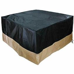 40-Inch 600D Heavy Duty Patio Square Cover For Outdoor Fire