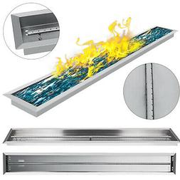 """61""""X8"""" Drop-In Gas Fire Pit Pan Burner Natural Gas Outdoor D"""