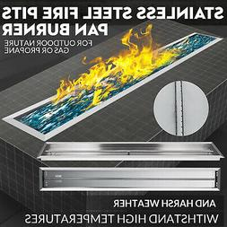 """60""""X 6"""" Drop-In Gas Fire Pit Pan Burner  Fireplace Parts"""