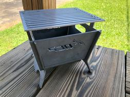 "Outdoor Custom Products 7"" Square Portable Camping Fire Pit"