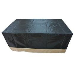 """Rectangle Fire Pit/Table Cover, 60"""" L x 38"""" W x 24"""" H"""