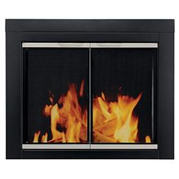 Alsip Cabinet Style Fireplace Screen and Glass Door, Large