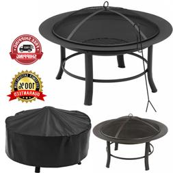 Antique Outdoor Fire Pit With PVC Cover And Spark Guard  Wea