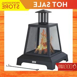 Bali Outdoor Fire Pit 26'' Wood Burning Large Patio FirePlac