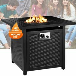 BBQ Grill Propane Gas Fire Pit Table Outdoor Cooking Party G