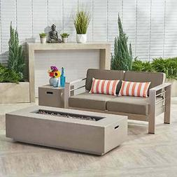 cape coral outdoor loveseat and fire pit
