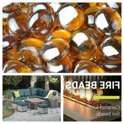 Caramel Luster Fire Beads For Gas Fireplace Fire Pit Glass F