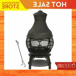 Bali Chiminea Fireplace Outdoor Patio Fire Pit Wood Burning
