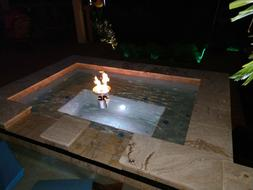 Create a Floating Propane Fire Bowls for your Pool or Pond f