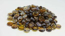 """Decorative Fire Glass Beads 3/4"""" Caramel 10 lbs for Fire Pit"""