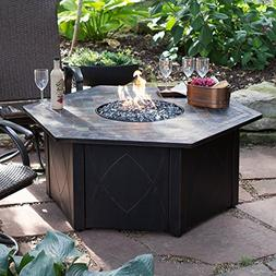 UniFlame 55-in. Decorative Slate Tile LP Gas Outdoor Fire Pi
