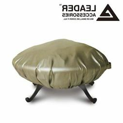 Deluxe All Weather Protect Outdoor Patio Round Fire Pit Cove