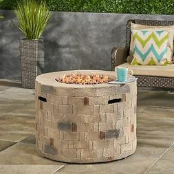 Dino Outdoor Lightweight Concrete Circular Fire Pit by