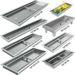 Linear Trough Drop-In Fire Pit Pan Natural Gas +Burner 20,24