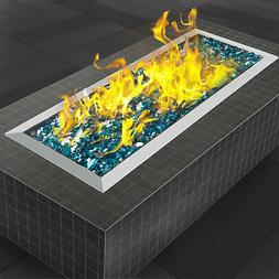 Fire Pit Pan and Burner 20 By 8 Inch Stainless Steel Durabil