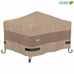 Duck Covers Elegant Water-Resistant 32 Inch Square Fire Pit