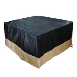 Durable and Water Resistant Patio Fire Pit/Table Cover, Blac