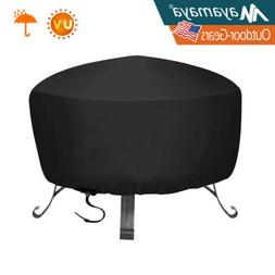 Durable Weather-Resistant Round Fire Pit Cover Outdoor Water