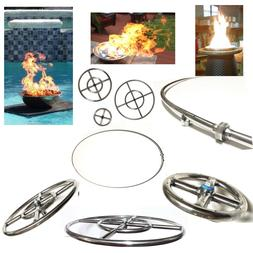 EasyFirePits Lifetime Warr 316 Stainless Round Gas Fire Pit/