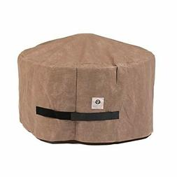 elite round fire pit outdoors cover water