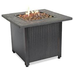 """Endless Summer Decorative 30"""" Outdoor Gas Fire Pit Table wit"""
