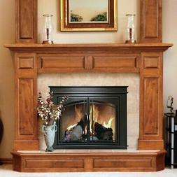 Pleasant Hearth Fenwick Cabinet Fireplace Screen and Arch Pr