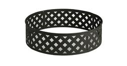 Fire pit 30 in. Steel Fire Ring with Lattice Pattern in Blac
