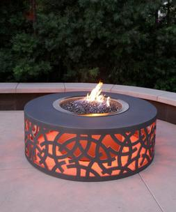 Fire Pit Aluminum Outdoor Powder Coated With LED Lighting Ga