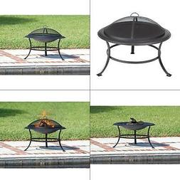 Fire Sense Fire Pit Camping Wood Burning 30 Inch Round Steel